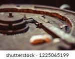 high precision hot forging... | Shutterstock . vector #1225065199