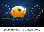 chinese pig years background ... | Shutterstock .eps vector #1225066999
