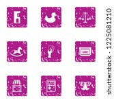 gadget icons set. grunge set of ... | Shutterstock .eps vector #1225081210