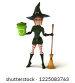 sexy witch   3d illustration | Shutterstock . vector #1225083763