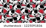 dog seamless pattern christmas... | Shutterstock .eps vector #1225091836