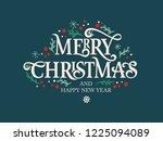vector illustration. merry... | Shutterstock .eps vector #1225094089