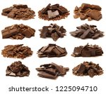 chocolate on white background | Shutterstock . vector #1225094710