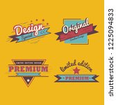 premium quality badge vector set   Shutterstock .eps vector #1225094833