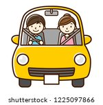 illustration driving with... | Shutterstock .eps vector #1225097866