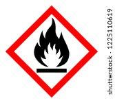 standard pictogam of flammable... | Shutterstock .eps vector #1225110619