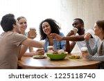 diverse friends girls and guys... | Shutterstock . vector #1225118740