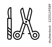 surgical instruments icon... | Shutterstock .eps vector #1225119589