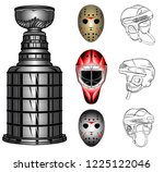 hockey game theme stanley cup... | Shutterstock .eps vector #1225122046