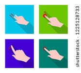 isolated object of touchscreen... | Shutterstock . vector #1225128733