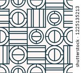 seamless pattern with geometric ... | Shutterstock .eps vector #1225135213