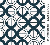 seamless pattern with geometric ... | Shutterstock .eps vector #1225137739