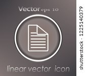 paper icon  document icon ... | Shutterstock .eps vector #1225140379