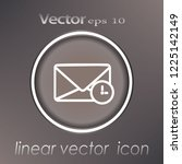 clock and envelope line icon ... | Shutterstock .eps vector #1225142149
