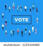 voting symbols vector design....   Shutterstock .eps vector #1225144480