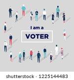 voting symbols vector design.... | Shutterstock .eps vector #1225144483
