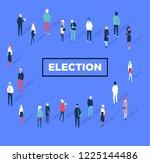 voting symbols vector design....   Shutterstock .eps vector #1225144486