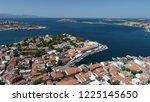 'foca' city and aegean sea...   Shutterstock . vector #1225145650