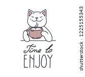 time to enjoy. illustration of ...   Shutterstock .eps vector #1225155343