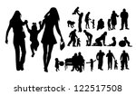 silhouettes of family and... | Shutterstock .eps vector #122517508