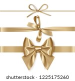 set of decorative golden bows... | Shutterstock .eps vector #1225175260