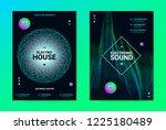 techno music poster. wave flyer ... | Shutterstock .eps vector #1225180489