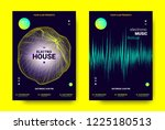 electronic sound poster. techno ... | Shutterstock .eps vector #1225180513