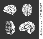 brain icon set. simple set of... | Shutterstock . vector #1225183549