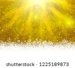winter holiday greeting card.... | Shutterstock . vector #1225189873