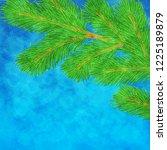 winter illustration with green... | Shutterstock . vector #1225189879