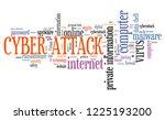 cyber attack sign   computer... | Shutterstock . vector #1225193200
