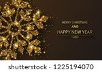 black merry christmas and happy ...   Shutterstock .eps vector #1225194070