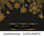 black merry christmas and happy ... | Shutterstock .eps vector #1225194073