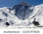Small photo of Avalanche from Khan Tengri Peak, Central Tian Shan, Kazakhstan - Kyrgyzstan - China