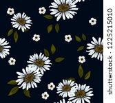 retro wild seamless flower... | Shutterstock .eps vector #1225215010