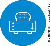 slice toaster line circle icon   Shutterstock .eps vector #1225218466