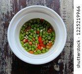Stock photo fish sauce with chilies nam pla prik 1225219966