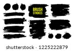 set of black hand drawn brush... | Shutterstock .eps vector #1225222879