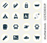 journey icons set with electric ...   Shutterstock .eps vector #1225230319