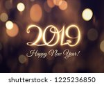 2019 written light energy line... | Shutterstock .eps vector #1225236850