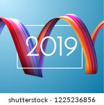 2019 new year holiday vector... | Shutterstock .eps vector #1225236856