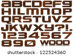 grunge wooden letters and...   Shutterstock . vector #122524360