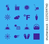 sunny icon. sunny vector icons... | Shutterstock .eps vector #1225259740