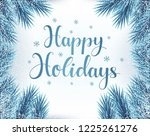 happy holidays greeting card.... | Shutterstock .eps vector #1225261276