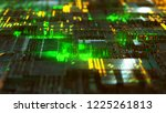 hightech background  3d... | Shutterstock . vector #1225261813