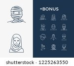 avatar icon set and geek with...