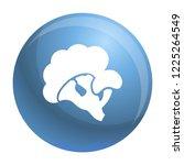 eco broccoli icon. simple... | Shutterstock .eps vector #1225264549