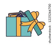 gift open with books | Shutterstock .eps vector #1225266700