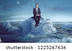 businessman sitting on an... | Shutterstock . vector #1225267636