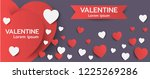 happy valentines day banner... | Shutterstock .eps vector #1225269286